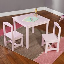 Hayden Kids' 3 Piece Square Table and Chair Set