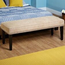 Microfiber Nailhead Bedroom Bench