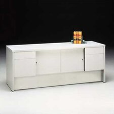 "Bravo Panel 72"" W Storage Credenza with Drawers"