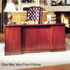 "Legacy 66"" Single Pedestal Veneer Executive Desk"