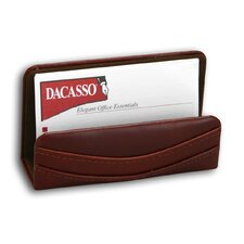1000 Series Classic Leather Business Card Holder in Mocha