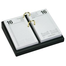 1000 Series Classic Leather 4.5 x 8 Calendar Holder Base in Black