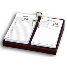 1000 Series Classic Leather Calendar Holder Base in Mocha
