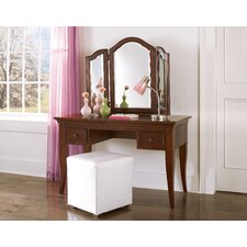 Walnut Street Storage Mirror Vanity