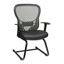 Deluxe Back Eco Leather Visitors Chair with Fixed Arms