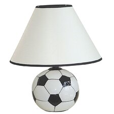 Ceramic Table Lamp with Soccer Ball Base