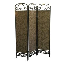 3 Panel Room Divider in Antique Gold