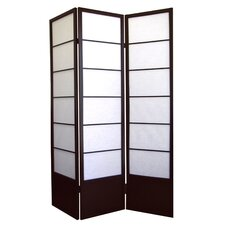 Shogun 3 Panel Room Divider in Espresso