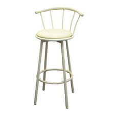 "29"" Swivel Barstool in Ivory (Set of 2)"