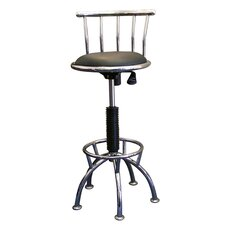 Swivel Barstool with Adjustable Height in Chrome