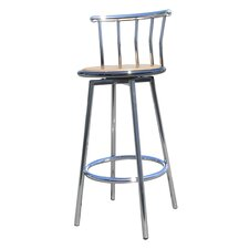 Swivel Barstool in Chrome (Set of 2)
