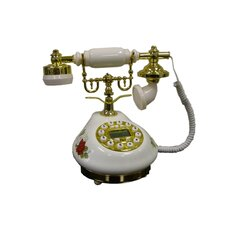 Classic Telephone with Looped Speaker in White