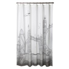 London Cotton Shower Curtain
