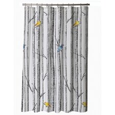 Aspen Birch Cotton Sateen Shower Curtain