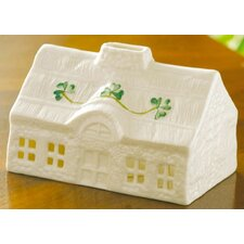 Thatched Cottage Porcelain Votive