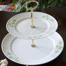 Shamrock Two Tiered Cake Plate
