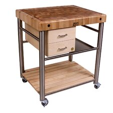 Cucina Americana Toscano Kitchen Cart with Butcher Block Top