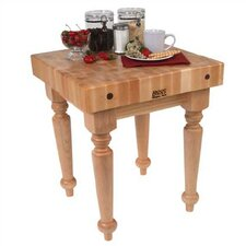 BoosBlock Saratoga Prep Table with Butcher Block Top