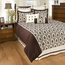 7 West Trevi Brown King Bedding Collection