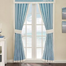 Coastline Cotton Rod Pocket Curtain Panel Pair