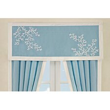 Coastline Cotton Rod Pocket Tailored Curtain Valance
