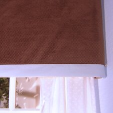 Blue Chocolate Cotton Rod Pocket Tailored Valance