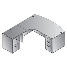 Napa Left L-Shaped Computer Corner Desk