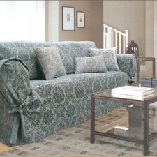 Catania Loosefit Cypress Sofa Skirted Slipcover