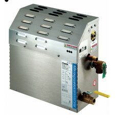 Steambath Generator with Integrated Time Cutoff for 100 Cubic Feet Maximum Range