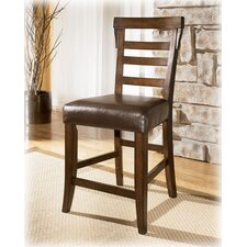 "Oxbow 24"" Bar Stool Dark Brown"