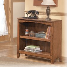 Cross Island Small Bookcase in Medium Brown Oak