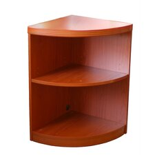 Aberdeen 2-Shelf Quarter Round Bookcase