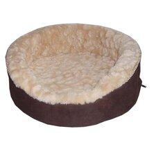 Plush Dog Bed in Dark Brown