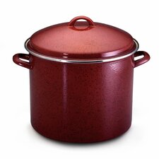 Enamel on Steel 16-qt. Stock Pot with Lid