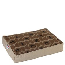 Classic William Wegman Polka Dog Cork Pet Bed