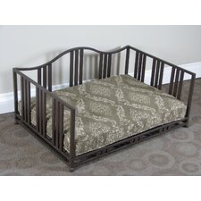 Metal Swirl Pet Daybed in Cocoa Brown