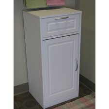 Bathroom Base Cabinet with One Door in White