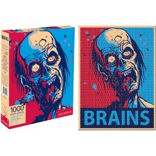 Zombie Brains 1000 Piece Jigsaw Puzzle