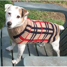 Tan Plaid Dog Sweater