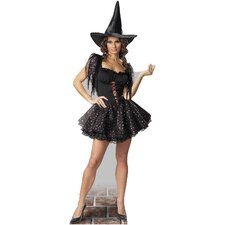 Glitter Witch Cardboard Stand-Up