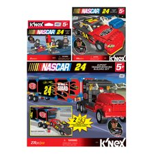 NASCAR Driver DuPont Car / Transporter / Pit Crew Building Set Kit