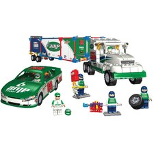 Nascar #88 Dale Jr. Bundle: Amp Energy Car, Pit Crew, and Transporter Rig Building Set