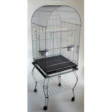 Dome Top Parrot Cage with Stand