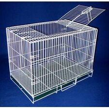 Animal Crate With Bottom Grate