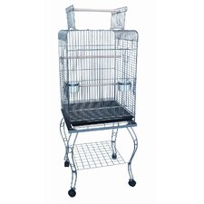 "24"" Open top Parrot Cage With Stand"