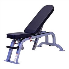 High Impact Commercial Flat Adjustable Incline Bench with Wheels (0-85 Degrees)