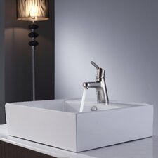 "18.5"" Square Sink and Ferus Basin Faucet"