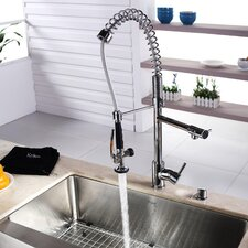 "30"" x 16"" x 10"" Farmhouse Kitchen Sink with Faucet and Soap Dispenser"