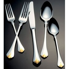 Cara Gold Accent Flatware Collection