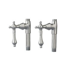 Traditional Straight Supply Stops with Metal Lever Handles